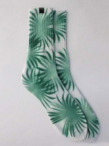 AND Tropical Leaf Socks £7.99 (andclothingstore.co.uk)